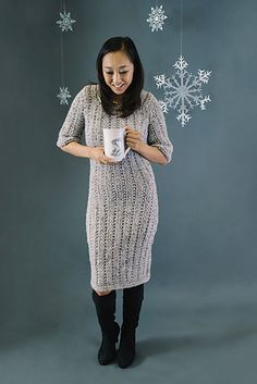 Knit yourself the perfect dress with Lion Brand Wool-Ease Thick & Quick.