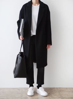 66 Ideas For Fashion Winter Minimalist Minimal Style is part of Sneakers men fashion - Monochrome Fashion, Minimal Fashion, Minimal Clothing, Minimalist Fashion Women, Korean Fashion Men, Womens Fashion, Fashion Trends, Fashion Ideas, Fashion Outfits