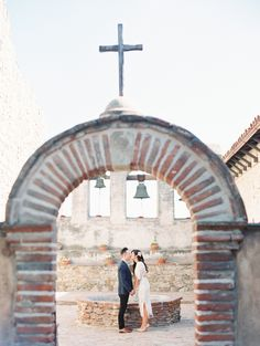 mission san juan capistrano engagement session wedding photographer