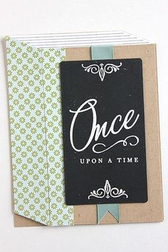 Once Upon A Time Card by Heather Nichols for Papertrey Ink (July 2015)