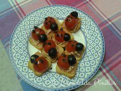 Mariquitas de tomates cherry.