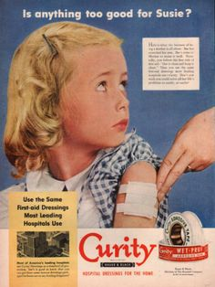 Vintage 1951 First Aid bandage print ad Curity by Vividiom on Etsy
