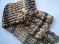 Zimowy komplet na drutach   Kreacje Hani Everest YA