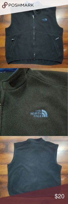 Men's black Face fleece vest, size large Men's black North Face fleece vest, size larfe.  The inside tag has been cut out. No stains or tares. North Face Jackets & Coats Vests