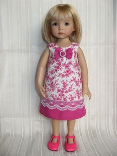 "Barbara_creations: Dress for Little Darling doll 13"" by Dianna Effner; Robe 6"