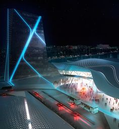 Kaohsiung Port Terminal Proposal by Asymptote Architecture