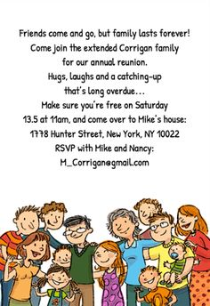 Family Lasts Forever - Free Printable Family Reunion Invitation Template | Greetings Island