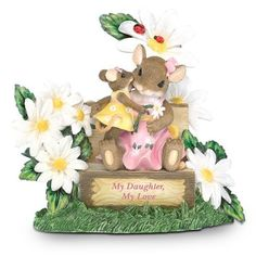 Charming Tails My Daughter, My Love Mother-Daughter Figurine by The Hamilton Collection:  (for my Skylar)