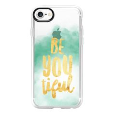 Jesi Is Be You Tiful - iPhone 7 Case And Cover ($40) ❤ liked on Polyvore featuring accessories, tech accessories, iphone case, iphone cover case, apple iphone case, iphone cases and clear iphone case