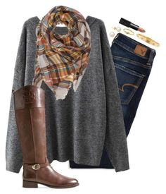 A fashion look from December 2015 featuring American Eagle Outfitters, Tory Burch boots and Cartier bracelets. Browse and shop related looks. Cute Fashion, Fashion Women, Fashion Outfits, Fashion 2018, Fall Winter Outfits, Autumn Winter Fashion, Casual Outfits, Cute Outfits, New Wardrobe
