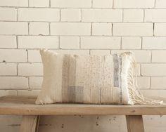 Hand-Woven Cushion with Ladder Detail ~ Susie Gillespie