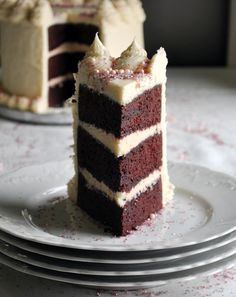 This Red Velvet Cake Recipe creates a dramatic three-layer cake that's moist, tender and covered in cream cheese buttercream frosting.