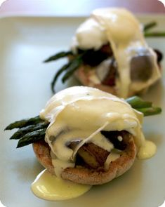 Eggs Benedict with Melted Brie and Asparagus