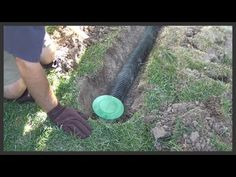 How to install a lawn pop-up drain - YouTube