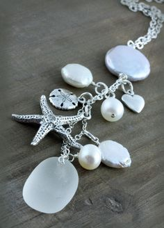 sea glass and pearls