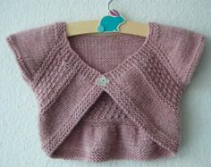 Entrechat Baby and Child Shrug PDF knitting pattern by frogginette