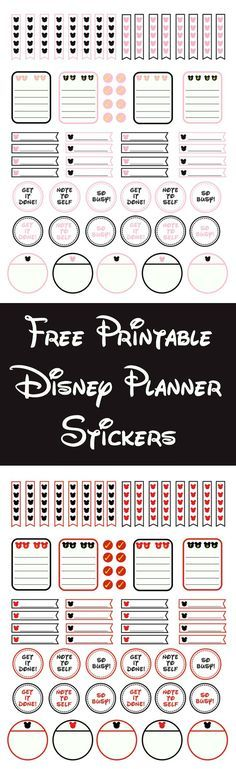 If you are a huge Disney AND planner fan, you're going to love these Disney planner stickers! They come in Mickey and Minnie themes and are completely free. via @diy_candy