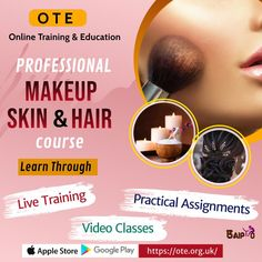 Explore online tutorials and get inspired to learn more about makeover by joining online professional Makeup, Skincare and Hair care course provided by OTE - Online Training & Education. Hurry Up! Join OTE now to be professional beautician.