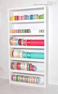 shelf for ribbons and washi tape
