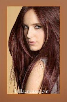 Logra un cabello castaño, con estas formulas de color, ya seas en cabello natural o teñido.