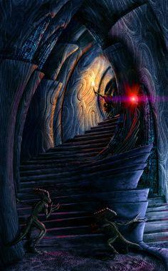 Inside a daedric shrine by Lelek1980.deviantart.com on @deviantART