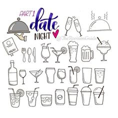 Date night doodles - drinks # More doodle icons at  #TheRevisionGuide_Icons   Part one of date night doodles as requested by @journalmehappy . . . Lots more date night doodles coming up.. . . . . . #doodle #doodleaday #howtodoodle #howtodraw #wine #date #datenight #beer  #coffee #cute #doodle #foodie #drinks #planner  #plannercommunity #plannergirl #handletteredabcs #letteritapril #bulletjournal #bujo