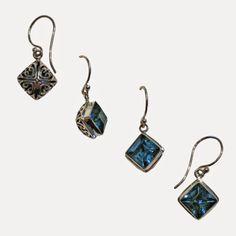 Blue Topaz & Sterling Silver Earrings - Sita | Touchstone Gallery