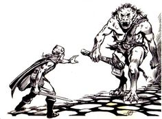 """oldschoolfrp: """" The 'orrible ogre advances, roll for initiative. (Larry Elmore, from the Mentzer D&D Basic Rules Set: Players Manual, TSR, 1983.) """""""