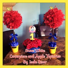 Snow White centerpieces by Isela Decor