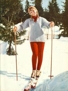 vintagebreeze: Norwegian ski fashion in the 1960s