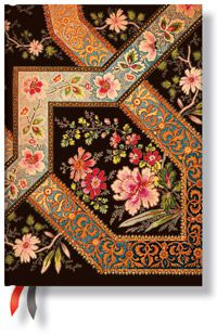 18-Month Midi Dayplanners by Paperblanks: 2012 Filigree Floral Ebony