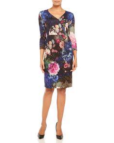 Basler Floral Surplice Dress
