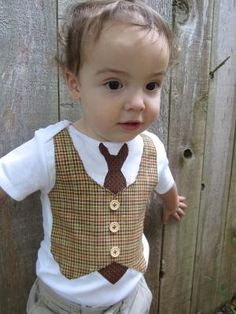 Cuddlestar Necktie and Vest Onesie by adrianfraz on Etsy