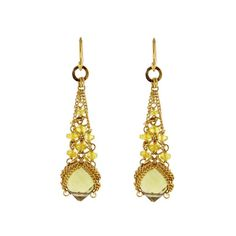 Anthony Nak - Anthony Nak Citrine and Diamond Earrings offered by Pampillonia on InCollect Diamond Jewelry, Diamond Earrings, Drop Earrings, Famous Jewelry Designers, Fine Jewelry, Jewelry Making, Antique Earrings, Gold Style, Statement Earrings