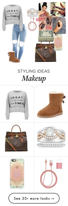 """Sweater weather"" by yahiness on Polyvore featuring UGG Australia, Cheap Monday, MICHAEL Michael Kors, Casetify, Allurez and PhunkeeTree"