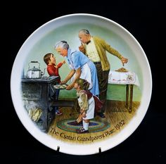 """1982 J. Csatari """"The Cookie Tasting"""" Knowles Collector Plate Only Edition"""