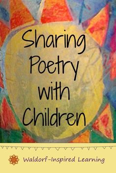 Sharing poetry with children is playful and fun. Plus it's a great learning activity leading to literacy skills and a strong language arts foundation. Play Based Learning, Home Learning, Toddler Learning, Literacy Skills, Early Literacy, Teaching Poetry, Teaching Kids, Teaching Resources, Hands On Activities