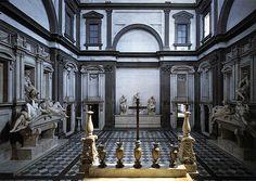 Michelangelo, New Sacristy (Medici Chapel), San Lorenzo, 1519-34