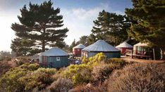 5 Magical Big Sur Glamping spots to soothe your soul - HotMamaTravel Big Sur Yurt, Big Sur Glamping, Yurt Camping, Big Sur California, California Travel, Northern California, Glamping California, Yurt Living, San Francisco