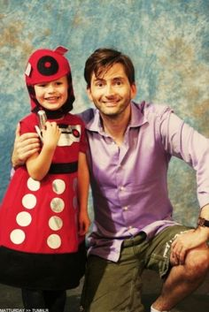 a-collectivemind:  David Tennant with a baby Dalek is the cutest thing I've seen all day.