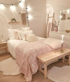 Cute Bedroom Decor, Bedroom Decor For Teen Girls, Teen Room Decor, Stylish Bedroom, Room Ideas Bedroom, Small Room Bedroom, Bedroom Inspo, Dream Bedroom, Dorm Room Designs