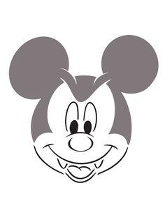vampire mickey mouse pumpkin template - disney pumpkin faces stencils your own disney