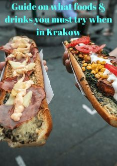 The must try Krakow foods and drink items which include Pierogi / Dumplings, Bigos / Hunter's stew, Zapiekanka, Golonka/Pork knuckle and flavoured vodka. Food Festival London, Hunters Stew, Good Food, Yummy Food, Healthy Food, Blue Food, Polish Recipes, Polish Food, Different Recipes