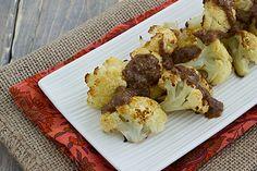 Roasted Cauliflower with Cashew Raisin Vinaigrette [Vegan]