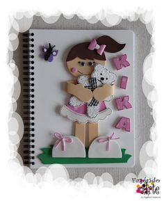 Caderno Decorado e Personalizado - Kika
