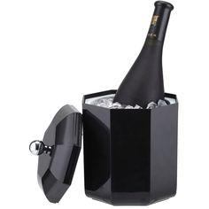 Smad 2L cubo De Hielo Enfriador de Vino Champagne Fiesta de Alta Calidad Enfriador de Cerveza Bebida Sostenedor de la Caja de Hielo para la Barra de Plástico negro