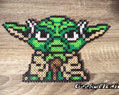 Star Wars - Yoda Sprite Perler Beads - Star Wars Yoda Perler Beads by GeekyMania - Perler Bead Designs, Perler Bead Templates, Pearler Bead Patterns, Perler Patterns, Quilt Patterns, Perler Beads, Perler Bead Art, Fuse Beads, Star Wars R2d2
