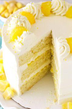 Lemon Mascarpone Layer Cake - a light lemon cake with lemon curd filling and whipped mascarpone frosting! Lemon Mascarpone Layer Cake - a light lemon cake with lemon curd filling and whipped mascarpone frosting! Lemon Dessert Recipes, Lemon Recipes, Summer Cake Recipes, Summer Cakes, Easter Recipes, Mini Cakes, Cupcake Cakes, Lemon Curd Filling, Savoury Cake