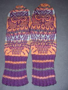stocking 011 Knit Mittens, Mitten Gloves, Knitting Ideas, Owls, Digital Camera, Knit Crochet, Stockings, Crafty, Pattern
