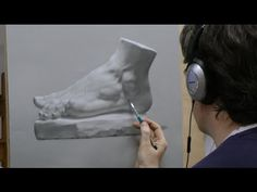 ▶ Time-lapse Portrait Drawing Demonstration by David Jamieson #1 - YouTube
